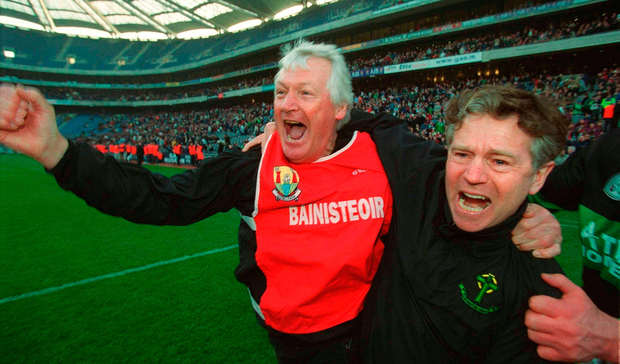 Billy Morgan celebraters Nemo's All-Ireland victory in 2003. Photo: Brendan Moran / SPORTSFILE