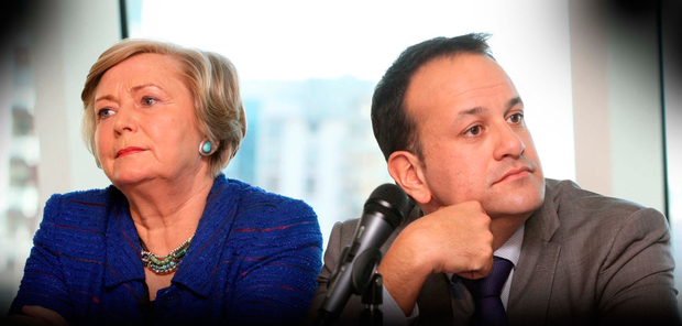 Minister Frances Fitzgerald and Leo Varadkar. Photo:Tom Burke