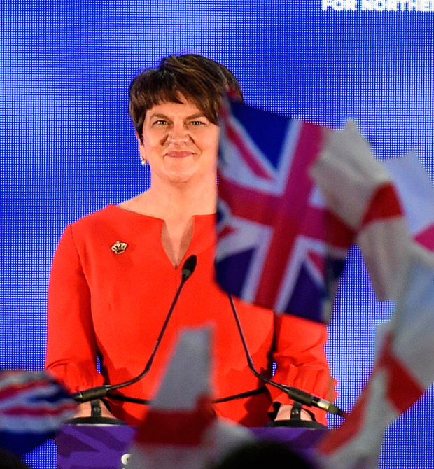 """WARNING: DUP leader Arlene Foster has spoken out against any barriers that would risk Northern Ireland's trading relationship with the rest of the UK, saying that she wants """"a sensible Brexit, a Brexit that works for Northern Ireland the rest of the UK"""" Photo: PA"""