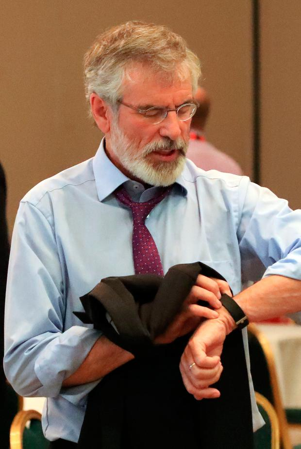 CALLING TIME: Gerry Adams is stepping down as president
