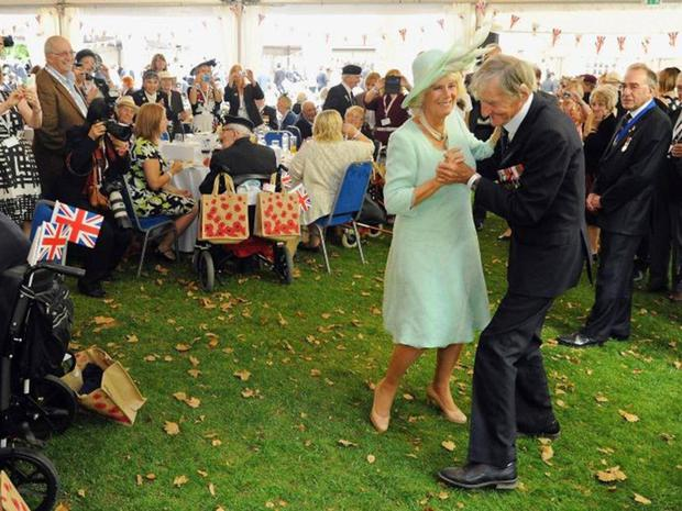Jim Booth pictured dancing with Camilla, Duchess of Cornwall in 2015 Picture: Press Association