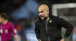 Pep Guardiola the head coach / manager of Manchester City during the Premier League match between Huddersfield Town and Manchester City at John Smith's Stadium on November 26, 2017 in Huddersfield, England. (Photo by Robbie Jay Barratt - AMA/Getty Images)