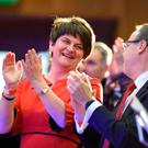 Arlene Foster at the DUP's conference in Belfast at the weekend. Photo: PA