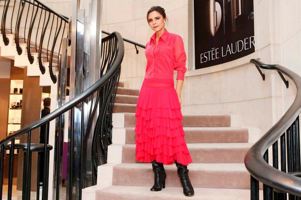 Victoria Beckham in Brown Thomas, Dublin, last month. Photo: Leon Farrell/Photocall Ireland