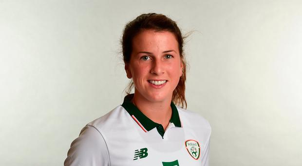Niamh Fahey is enjoying the continental life while also maintaining an eye on the future ahead of Ireland's Women's World Cup qualifier against European heavyweights the Netherlands Photo: Sportsfile