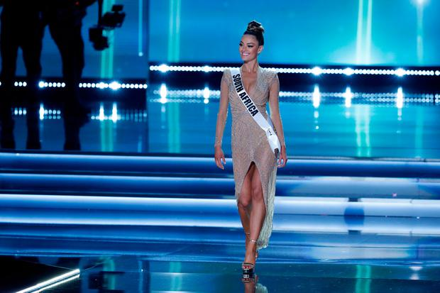 Miss South Africa Demi-Leigh Nel-Peters competes in the 66th Miss Universe pageant at Planet Hollywood hotel-casino in Las Vegas, Nevada, U.S. November 26, 2017. REUTERS/Steve Marcus