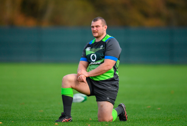 7 November 2017; Jack McGrath during Ireland rugby squad training at Carton House in Maynooth, Kildare. Photo by Brendan Moran/Sportsfile