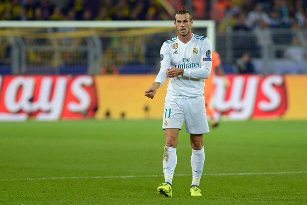 Gareth Bale of Real Madrid looks on during the UEFA Champions League group H match between Borussia Dortmund and Real Madrid at Signal Iduna Park on September 26, 2017 in Dortmund, Germany. (Photo by TF-Images/TF-Images via Getty Images)