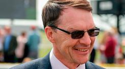 Aidan O'Brien has plenty to smile about after his record-breaking season. Photo by Cody Glenn/Sportsfile