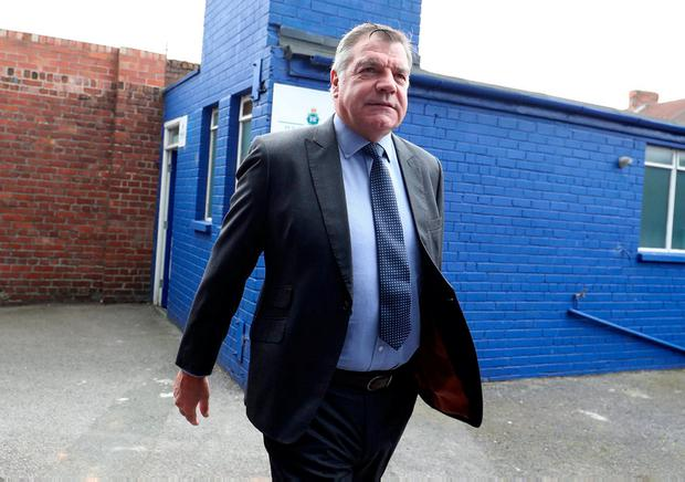 Sam Allardyce makes his way into Goodison Park for last season's game between Everton and Stoke City. Photo: Lynne Cameron/Getty Images