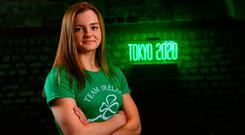Swimmer Mona McSharry at the OCI Tokyo Summer Scholarship announcement, where it was announced eight athletes and one team sport will receive IOC Olympic Solidarity Scholarships to aid with training and preparations for Tokyo 2020 with a further four athletes receiving scholarships directly from the Olympic Council of Ireland. #TeamIreland Photo: Ramsey Cardy/Sportsfile