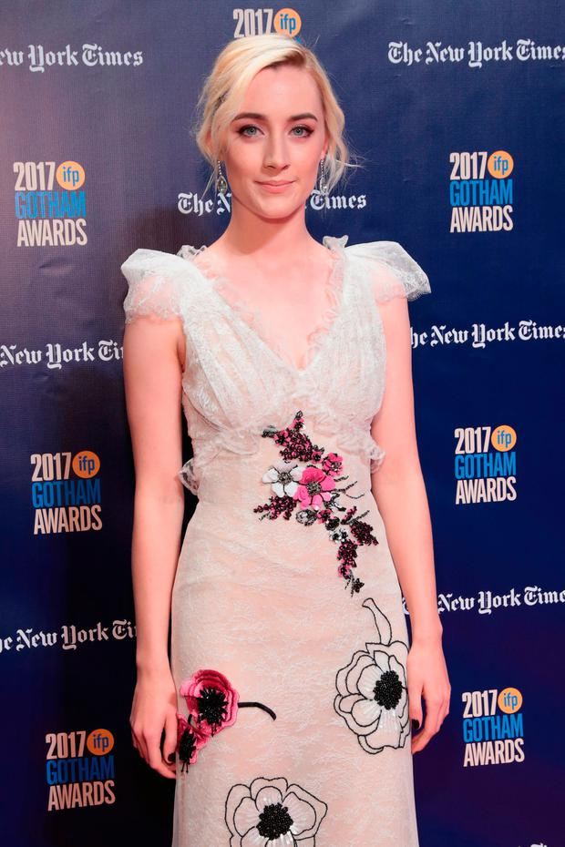 Actor Saoirse Ronan attends IFP's 27th Annual Gotham Independent Film Awards on November 27, 2017 in New York City. (Photo by Cindy Ord/Getty Images for IFP)