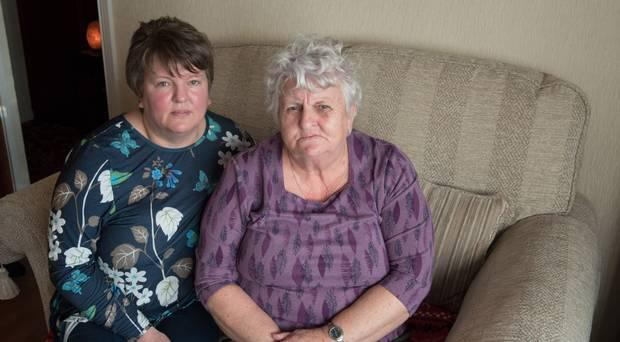 Jean McMorris with her daughter Niree after her home was broken into and cash and jewellery were stolen