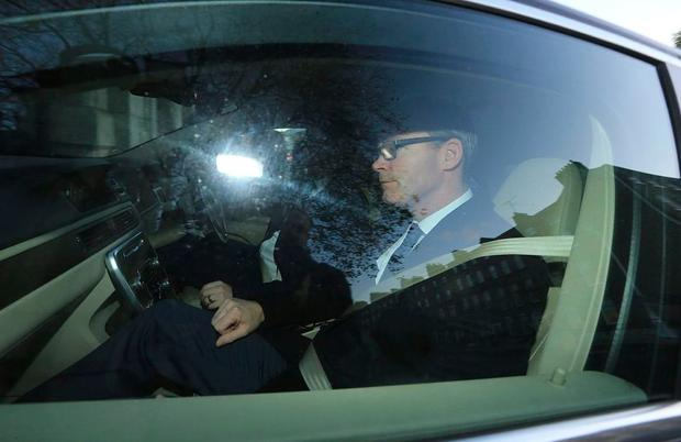 Simon Coveney arrives at Government Buildings this morning (Photo: Gerry Mooney)