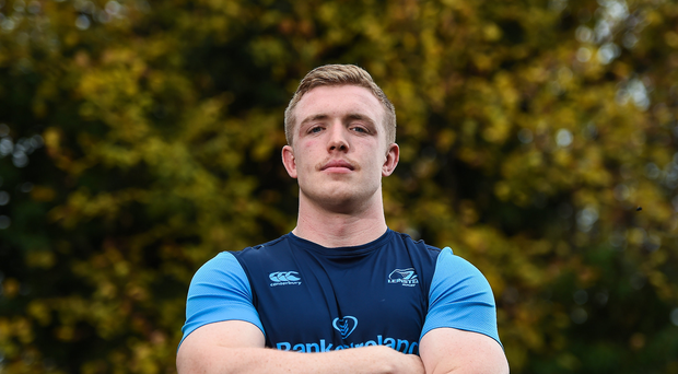Leinster's Dan Leavy poses for a portrait following a press conference at Leinster Rugby HQ in UCD, Belfield, Dublin. Photo by Seb Daly/Sportsfile