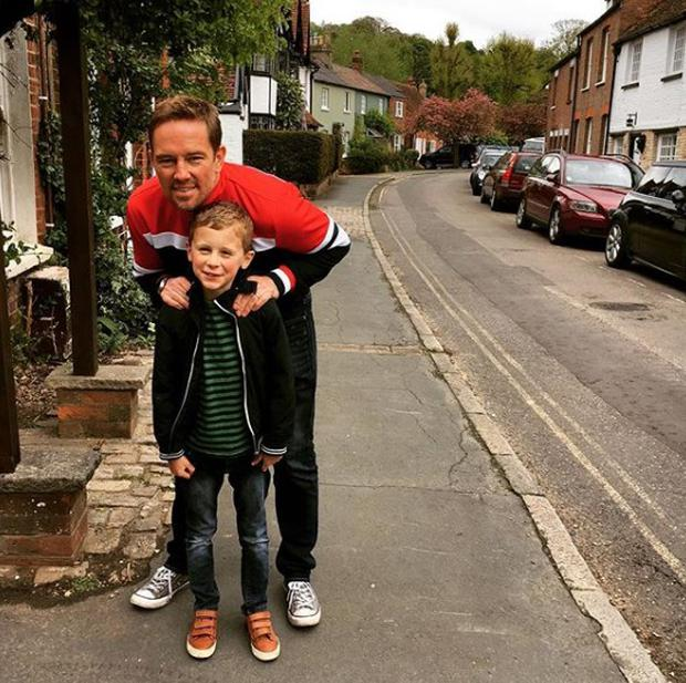 Simon Thomas with son Ethan