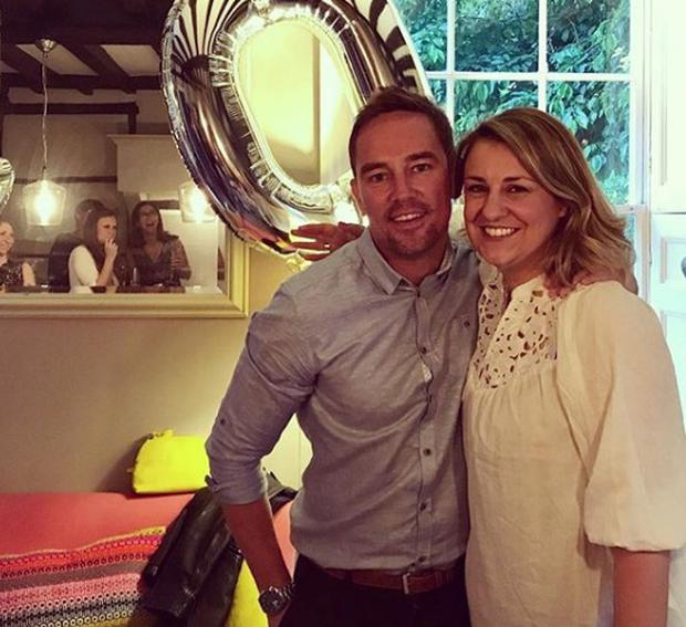 Simon Thomas with late wife Gemma