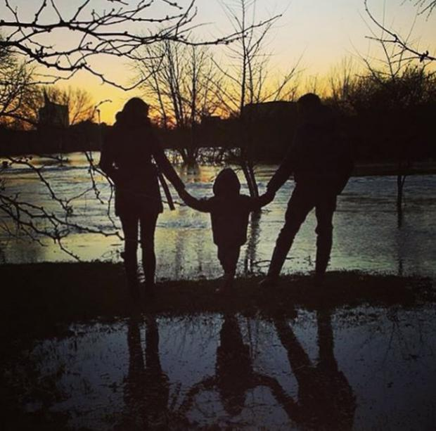 Simon Thomas shared this heartbreaking picture on Instagram with wife Gemma and son Ethan