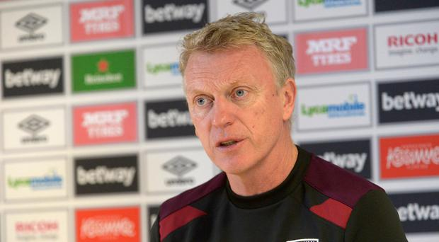 David Moyes of West Ham United during his Press Conference at Rush Green on November 27, 2017 in Romford, England. (Photo by Arfa Griffiths/West Ham United via Getty Images)