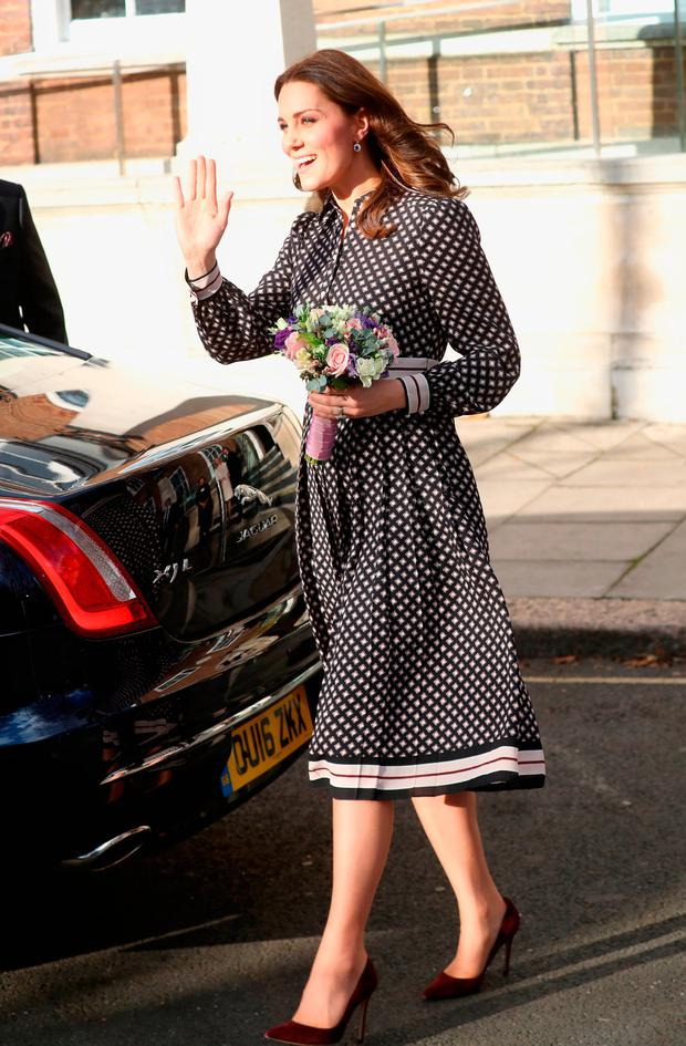 Catherine, Duchess of Cambridge leaves The Foundling Museum on November 28, 2017 in London, England. (Photo by Chris Jackson/Getty Images)