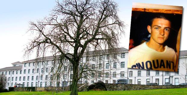 Evan Morrissey (inset) was sent home three times from South Tipperary General hospital after he complained of headaches