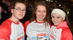 Ayla and Ailish Murphy with Ciara Foley from Macroom at the recent Irish Independent/SPAR Fitlive Run at Cork Airport. Photo: Michael Mac Sweeney/Provision