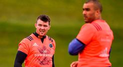 There are significant fears around Munster that Peter O'Mahony will follow Simon Zebo's lead and spread his wings. Photo: Diarmuid Greene/Sportsfile