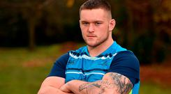 Leinster prop Andrew Porter has the name of his late mother Wendy tattooed on his left arm. Photo: Seb Daly/Sportsfile