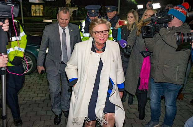 Frances Fitzgerald arrives at the FG selection convention in Dublin last night. Photo: Arthur Carron