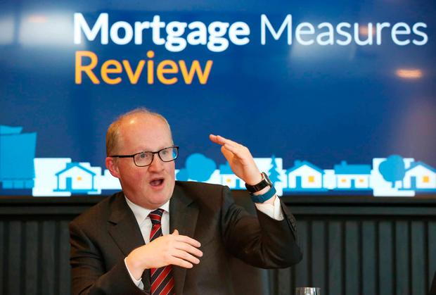 Governor Philip Lane launches the Central Bank's review of mortgage lending requirements. Photo: RollingNews.ie