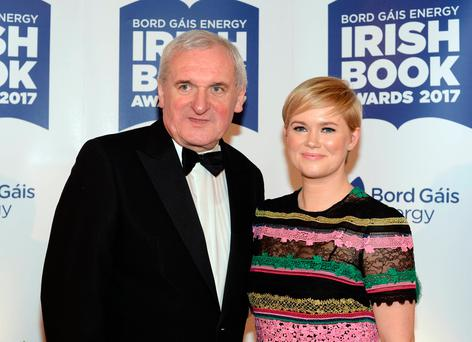 Guests attend The Bord Gais Energy Irish Book Awards 2017 at The Clayton Hotel, Dublin, Ireland - 28.11.17. Pictures: G. McDonnell / VIPIRELAND.COM **IRISH RIGHTS ONLY** *** Local Caption *** Bertie Ahern, Cecelia Ahern
