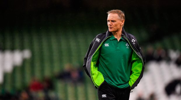 11 November 2017; Ireland head coach Joe Schmidt prior to the Guinness Series International match between Ireland and South Africa at the Aviva Stadium in Dublin. Photo by Brendan Moran/Sportsfile
