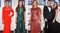 (L to R) Vogue Williams, Roz Purcell, Rachel Allen and Shay Given and Becky Gibson at the Irish Book Awards