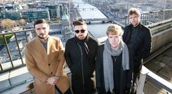 Kodaline, who headline the 3Countdown Concert as they officially launch the programme of events for New Year's Festival Dublin. Photo: Sasko Lazarov/Photocall Ireland