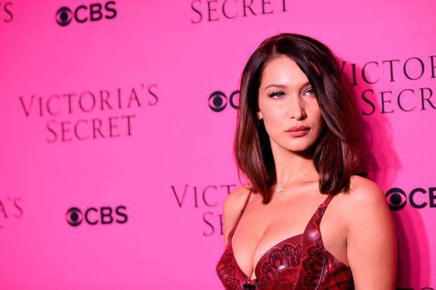Model Bella Hadid attends as Victoria's Secret Angels gather for an intimate viewing party of the 2017 Victoria's Secret Fashion Show at Spring Studios on November 28, 2017 in New York City. (Photo by Dimitrios Kambouris/Getty Images for Victoria's Secret)