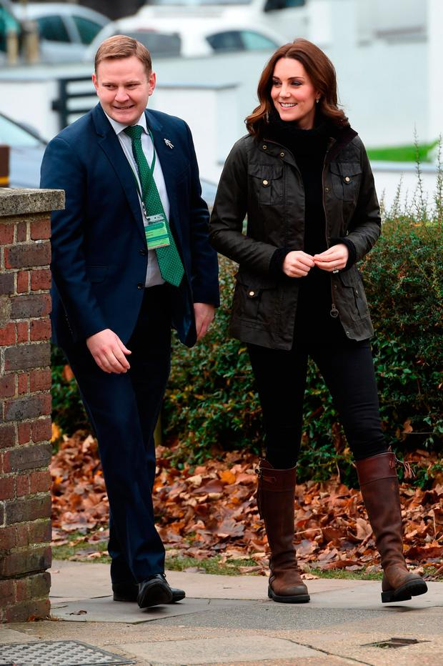 Catherine, Duchess of Cambridge visits the Robin Hood Primary School to celebrate ten years of The Royal Horticultural Society campaign for school gardening on November 29, 2017 in London, England. (Photo by Eddie Mulholland - WPA Pool/Getty Images)