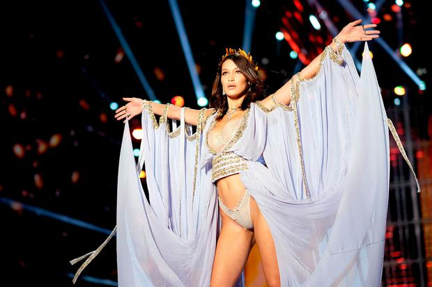 9112fcfcf Bella Hadid walks the runway during the 2017 Victoria's Secret Fashion Show  In Shanghai at Mercedes