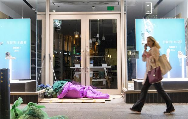 Rough sleepers are being encouraged to take advantage of extreme weather facilities. Photo: Fergal Phillips