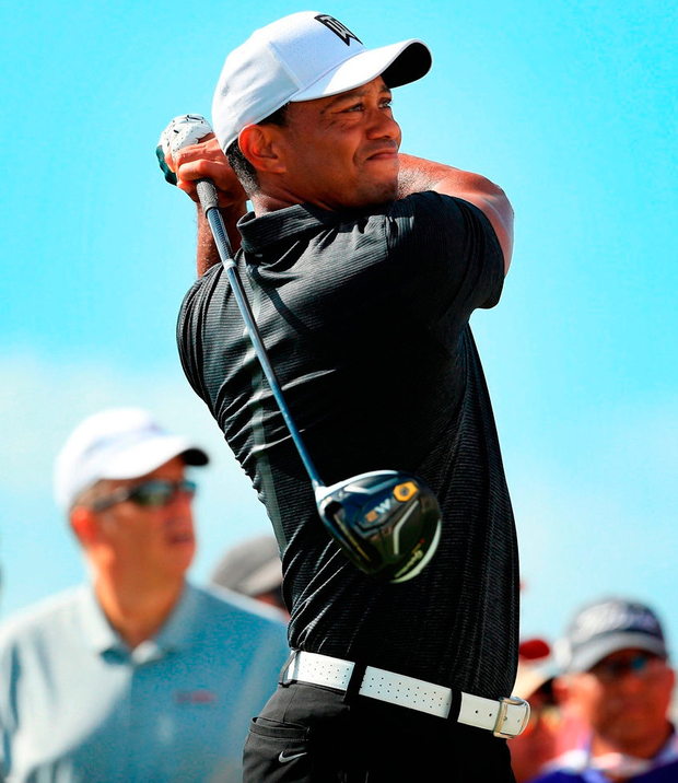Tiger Woods shot a round of 69 on his return to competitive golf. Photo: Mike Ehrmann/Getty Images