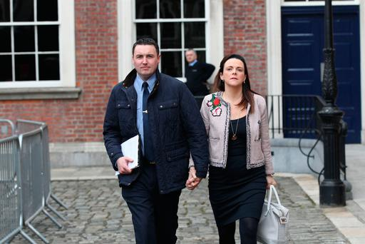 Garda Keith Harrison and Marisa Simms arrive at the tribunal in September. Photo: Collins Photos