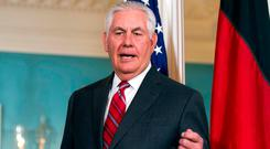 US Secretary of State Rex Tillerson. Photo: Cliff Owen/AP