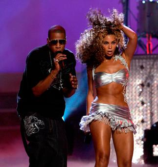 Music stars Jay Z and his wife Beyonce. Photo: Frazer Harrison/Getty Images