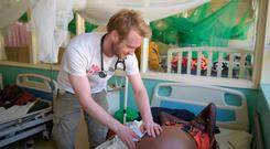 Eamon Faller is a Galwiegan doctor who has spent nearly six months working in Homa Bay, Kenya