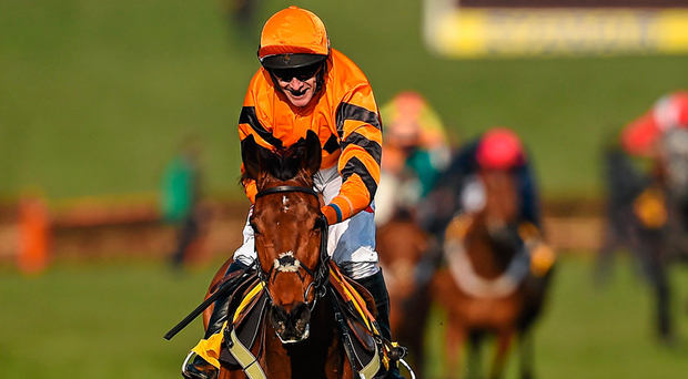 Thistlecrack, with Tom Scudamore up, on their way to winning last years Ryanair World Hurdle. Picture credit: Cody Glenn / Sportsfile