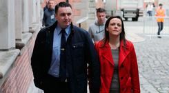 Garda Keith Harrison and his partner Marisa Simms. Photo: Stephen Collins/Collins Photo