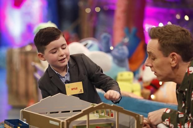Kyle Carty, age 7, from Collinstown, Co. Westmeath pictured on the RTE One Late Late Toy Show 2017.