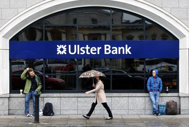 Last month, Ulster Bank in Northern Ireland said it would close 11 of 66 branches there. Photo: PA