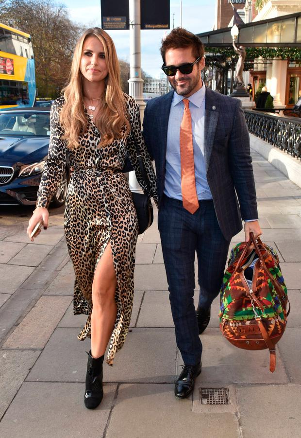 Vogue Williams & Spencer Matthews and Nicky Byrne attend The Marketing Society Annual Christmas Lunch and Research Excellence Awards 2017