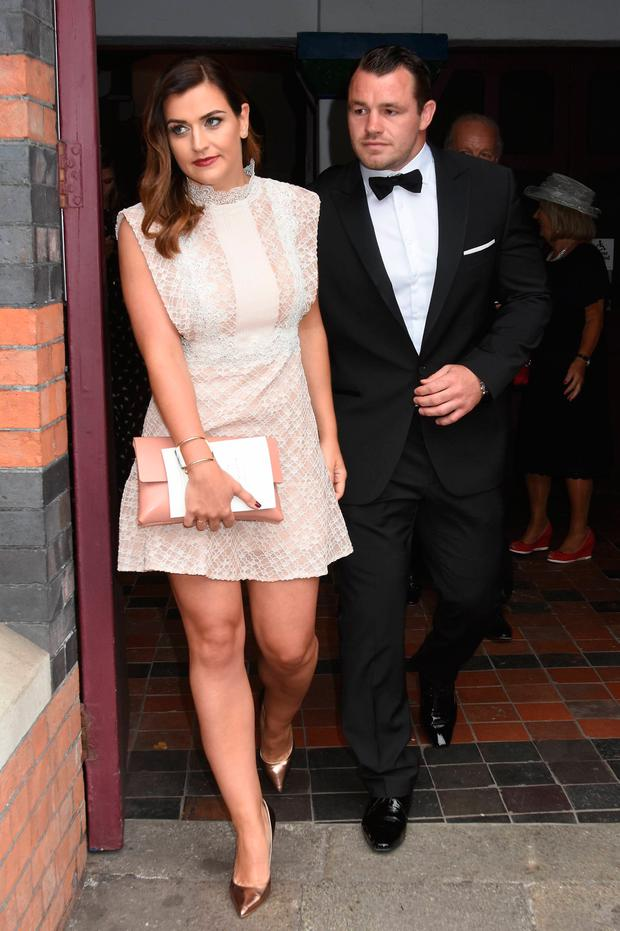 Cian Healy and Laura Smith at Jamie Heaslip and Sheena O'Buachalla's wedding