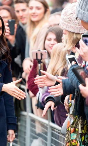 US actress Meghan Markle visits Nottingham for her first official public engagement with fiancee Prince Harry on December 1, 2017 in Nottingham, England